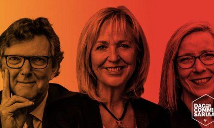 Inge Brakman, John Jaakke en Dorel Smits-Hoekstra op Dag van het Commissariaat